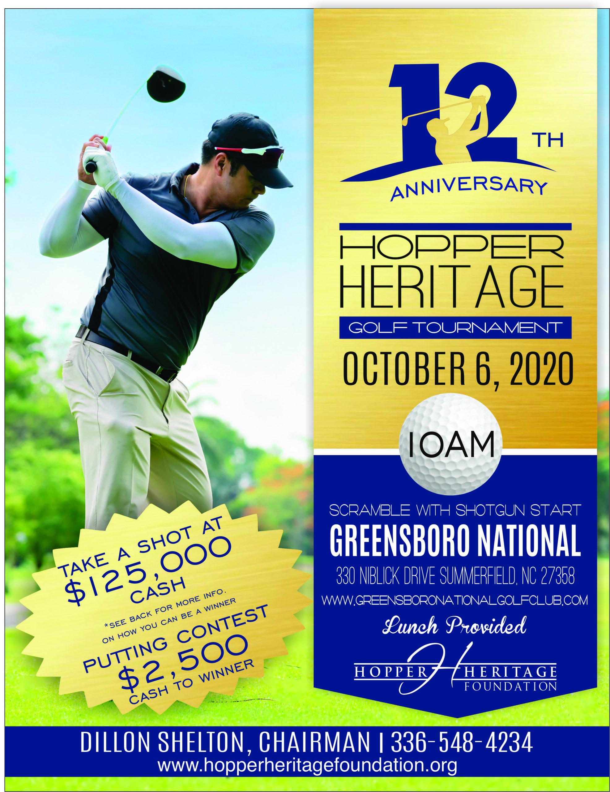 2020 HHF NC Golf Tournament Flyer v2